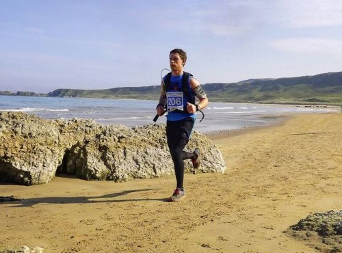 Image of Peter runs the Causeway Coast Marathon