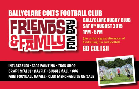 BALLYCLARE COLTS FUN DAY Ballyclare Rugby Club 8 August 2015 1-5pm