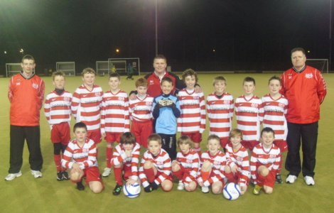 Ballyclare Colts U11s squad and coaches (2010-11)