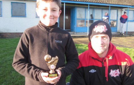 Ballyclare Colts Under 11 Player of the month - October - Ben Cameron