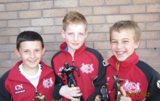 Under 11 Prize winners Chris Nesbitt (most improved player), Adam Surgeoner (managers player of the year) & Scott Wilson (plyers player of the year & top goal scorer) 2012