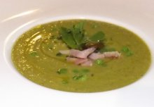 Home-made Pea, Ham & Mint Soup