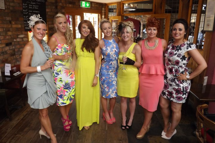 Ladies ready for our Trip to the Races at Down Royal