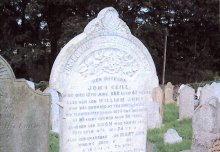 Neill family gravestone in Donaghadee Parish Church