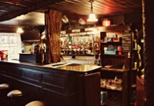View of bar in Grace Neills, Donaghadee