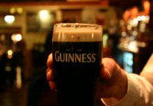 A glass of Guinness in the Grace Neill's Bar