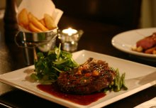 Steak Dinner in Grace Neills Restaurant