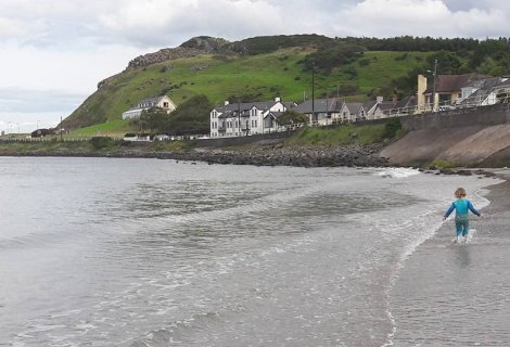Image of Ballygally Beach on the Antrim coast