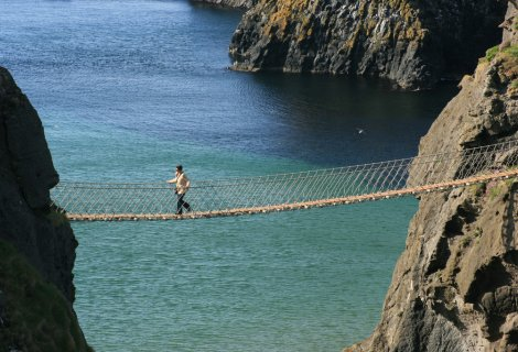 Image of Carrick A Rede Rope Bridge- on the Causeway coastal route in Northern Ireland