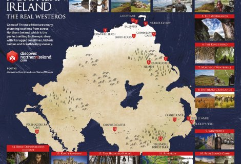 Image of Game of Thrones Location Map Northern Ireland