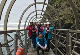 Welcome to May! And a trip to The Gobbins cliff walk on the Antrim coast